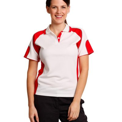 Ladies' Cooldry Contrast Polo With Sleeve Panel