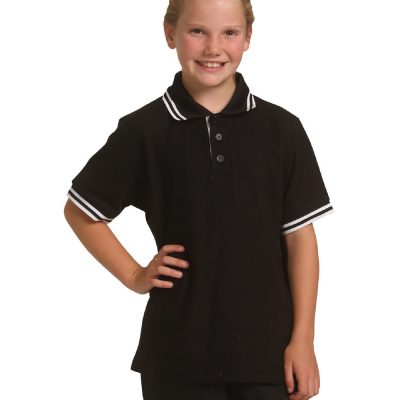Kids' Truedry Contrast S/S Polo