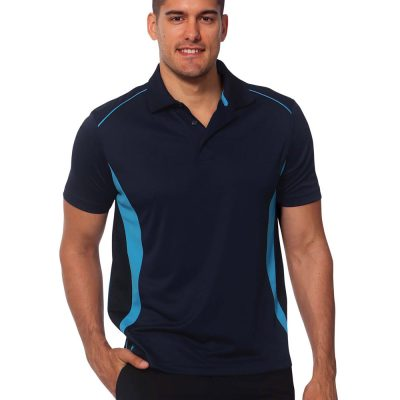 Men's Cooldry S/S Contrast Interlock Polo