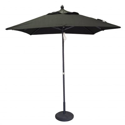 2.0m  Square Sorrento Market Umbrella 1 piece pole