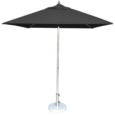 2.0m Square Tuscany Polished Market Umbrella, Olefin cover