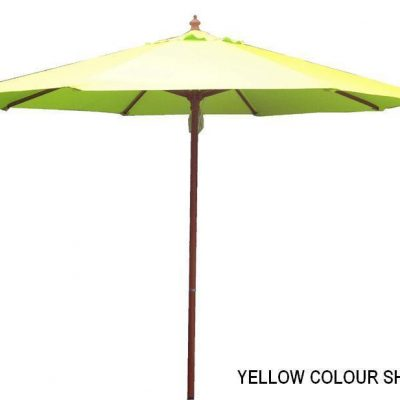 2.7m Tuscany Wood Look Market Umbrella, Acrylic Canvas cover