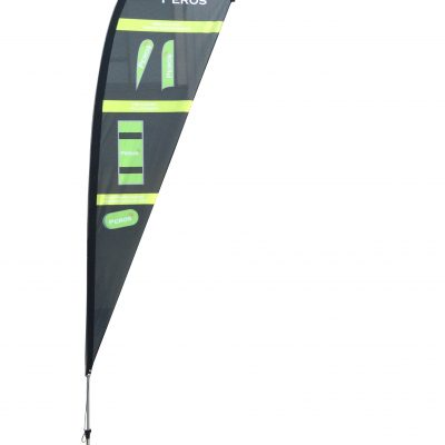 Small Premium Polyester Mesh Teardrop Banner - Single Sided Combo