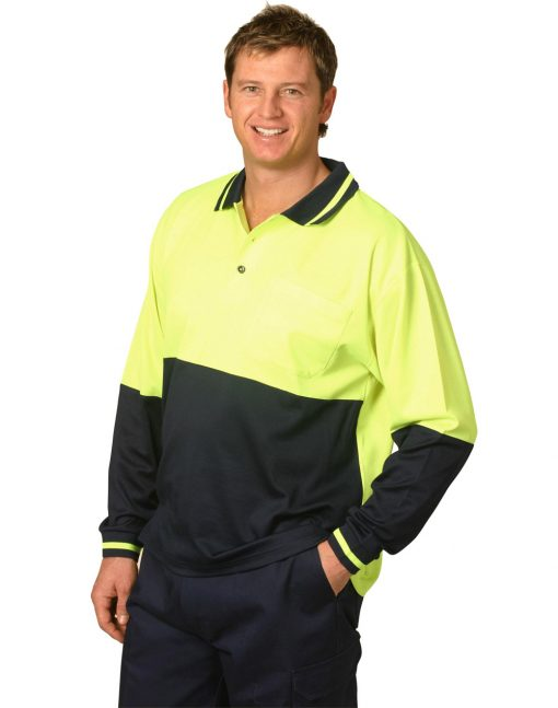 Hi-Vis truedry safety polo L/S