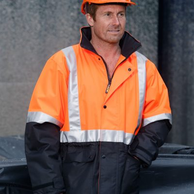 Hi-Vis Two Tone Rain Proof Quilted Safety Jacket With 3M Tapes