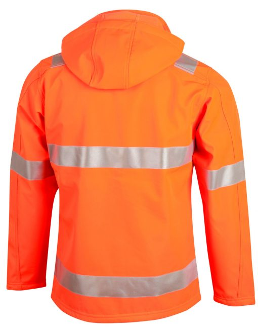 Hi-Vis Softshell Hooded Jacket With 3M Tape