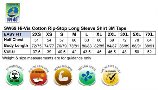 Hi-Vis Cotton Rip-Stop L/S Shirt 3M Tape