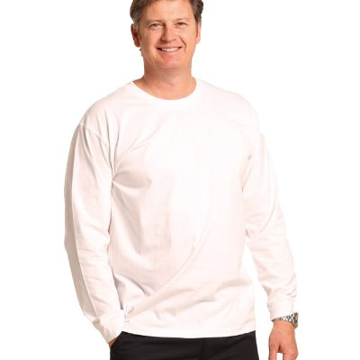 mens cotton crew neck L/S tee