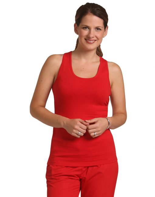 Ladies' Fitted Stretch Singlet